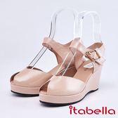itabella.悠閒時尚 性感魚口楔型涼鞋(9301-30粉色)