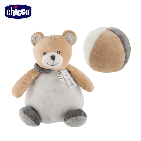 chicco-泰迪小熊毛绒布球
