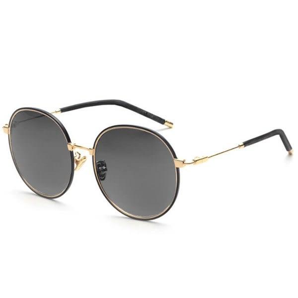 OT SHOP太陽眼鏡‧歐美復古時尚圓框金屬抗UV墨鏡‧全黑/漸層黑/茶/海洋粉/黃‧現貨五色‧U95