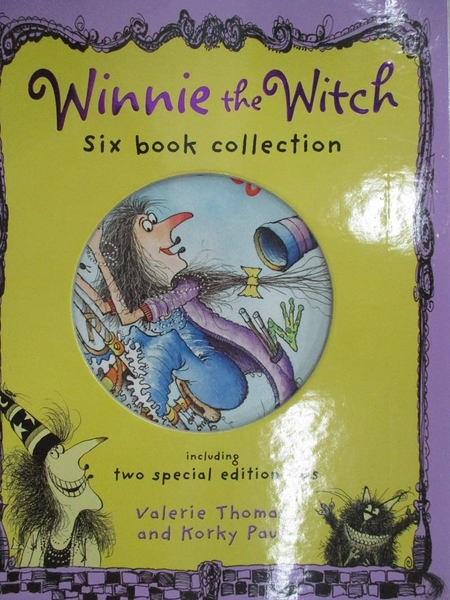 【書寶二手書T2/兒童文學_KJG】Winnie the Witch-Six Book Collection_附2片光碟_附殼_Valerie Thomas