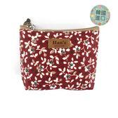 小物袋 零錢包 包包 防水包 雨朵小舖 K22-020  韓製小物包(小)-紅路邊小野花(韓)07053MADE IN KOREA