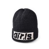 毛帽-girls純色加絨保暖女針織帽9色73ug37[巴黎精品]