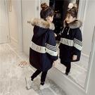 兒童裝棉服加絨加厚潮流夾克 時尚字母女孩保暖百搭女童外套 秋冬休閑棉衣 中大童韓版外套