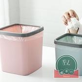 2個裝 桌面垃圾桶臥室床頭收納桶家用拉圾筒【福喜行】