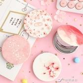 化妝鏡 韓國皮面鏡迷你翻蓋小鏡子小清新折疊雙面鏡創意便攜式隨身化妝鏡 樂芙美鞋YXS