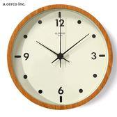 E&J【019004-02】a.cerco Mooi 設計時鐘 橡木色 ;時鐘/鬧鐘/loft風/設計/台灣製