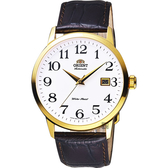ORIENT 東方 時尚玩家手錶-白x金框x咖啡/41mm FER27005W
