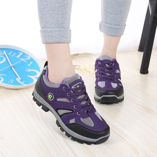 登山鞋女 運動鞋女 戶外健行鞋登山鞋防水徒步鞋