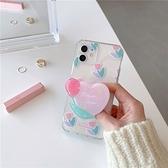 韓國ins唯美花朵愛心支架蘋果手機殼 iphone12/11Promax/Xr/78Plus/Xsmax