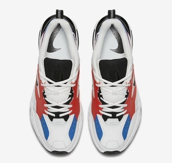 Nike M2K Tekno 白橘藍 老爹鞋 休閒鞋 男生 AV4789-100
