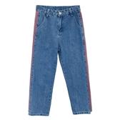 大碼胖寬鬆高腰牛仔褲女顯瘦哈倫直筒九分褲