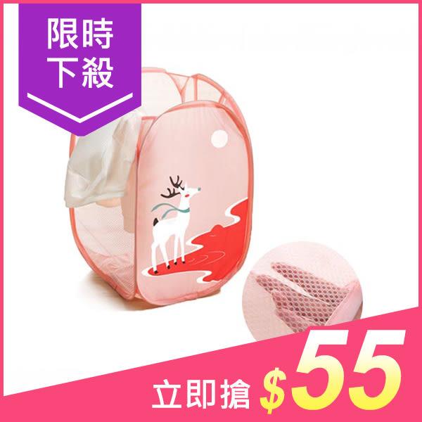 收納式旅行可愛動物洗衣籃 麋鹿款(1入)【小三美日】$59