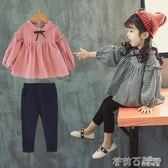 女寶寶時髦套裝0-5歲女童秋裝兒童裝潮衣3洋氣小童 茱莉亞嚴選