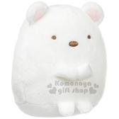 〔小禮堂〕角落生物 北極熊 絨毛沙包玩偶娃娃《S.白》趴趴娃娃.擺飾.玩具 4974413-61953