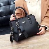 手提包 新款潮韓版百搭大氣女包簡約女士手提包LJ7895『夢幻家居』
