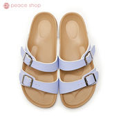 拖鞋-peace衣著館-MIT手工鞋-夏日必備馬卡龍色系拖鞋,紫色