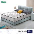 IHouse-麥丹 2.4mm硬式獨立筒床墊-單大3.5x6.2尺白色