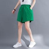 依多多 短褲 夏裝韓版寬鬆文藝純色哈倫顯瘦洋氣休閒褲短褲