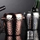 冰桶 冰桶酒吧不銹鋼冰粒桶歐式紅酒香檳桶錘點金色冰塊KTV吐酒圓形筒 洛小仙女鞋YJT