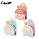 【日本正版】三麗鷗 燙金 紙膠帶 15mm寬 日本製 手帳貼 Sanrio 凱蒂貓 雙子星 美樂蒂 166956 166987 166994
