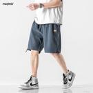 夏季男褲日系休閒薄款五分褲男士外穿潮牌男生寬鬆運動短褲 一米陽光