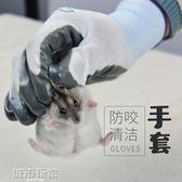 防咬手套 小寵物用品 倉鼠防咬手套 兔子龍貓豚鼠天竺鼠荷蘭豬防咬手套1雙 阿薩布魯