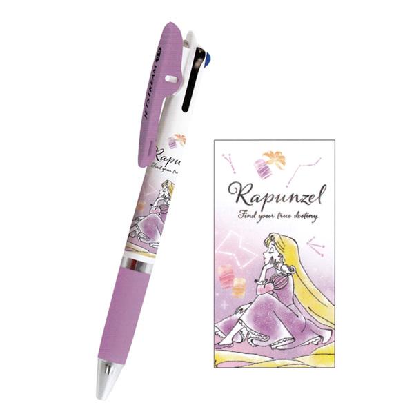 Kamio JETSTREAM 夾式三色溜溜筆 0.5mm 迪士尼 樂佩 水彩風格_ KM10825