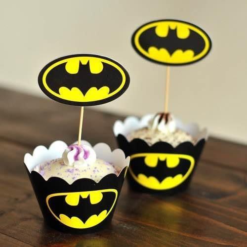 【發現。好貨】烘焙包裝紙杯蛋糕 蛋糕裝飾 插牌圍邊+插牌裝飾 派對用品 【蝙蝠俠】