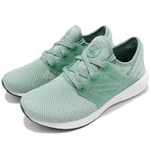New Balance 慢跑鞋 WCRUZRM2 B 綠 粉綠 白 舒適緩震 運動鞋 緩震舒適 女鞋【ACS】 WCRUZRM2B
