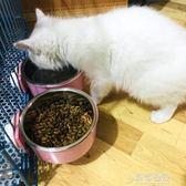 狗狗用品狗食盆狗碗狗盆固定貓碗貓盆懸掛式貓食盆貓咪飯盆寵物碗   草莓妞妞
