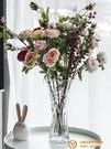 歐式大號玻璃透明花瓶客廳擺件插花水培【小獅子】