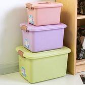 印花收納箱三件套加厚塑料桌面雜物收納盒衣服整理儲物箱yi【販衣小築】