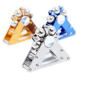 指尖陀螺 經典款鋁合金摩天輪指尖陀螺二合一盜夢空間合金減壓玩具 4色