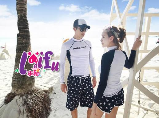 ★草魚妹★A99沖浪服親子藍白色浮潛衣沙灘衣,兒童單賣外衣一件600元