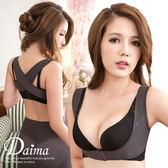 (2件組)美胸帶  包覆副乳350D輕透系X型防駝提托集中美姿帶-防駝背心S-XL(灰色)【Daima黛瑪】