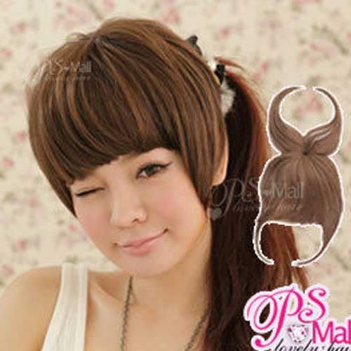 Qmishop 遮蓋頭頂妹妹頭帶頂瀏海 齊瀏海假髮片 平瀏海 蓋頂式瀏海片補髮片 【P017】