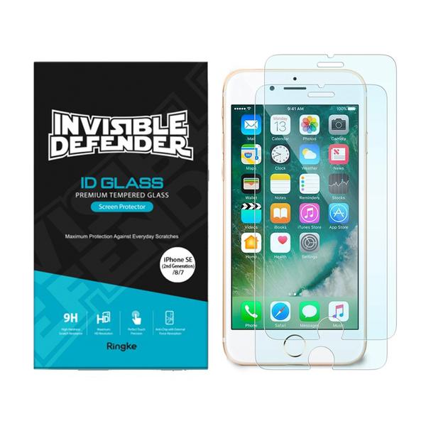 Rearth Ringke Apple SE(2代) 強化玻璃螢幕保護貼(2片裝)