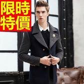 男毛呢大衣奢華時尚-熱銷典型休閒短版男外套2色61x72[巴黎精品]