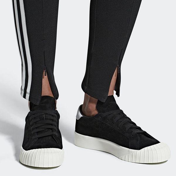 Adidas Everyn 女鞋 休閒 餅乾鞋 金標 厚底 / 麂皮 黑 / 皮革 粉【運動世界】 B28090 / B37450