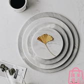北歐大理石托盤陶瓷創意衛浴收納置物盤西餐盤子【匯美優品】