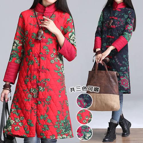 【韓國K.W.】(現貨在台) 中國焦點美人彩繪風顯瘦版型外套