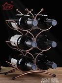 歐式紅酒架擺件簡約創意葡萄酒瓶架子酒櫃裝飾品擺件酒瓶架家用 夏季新品