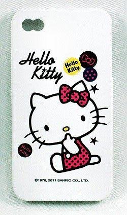 【零國界-小物】HELLO KITTY iPHONE 4 矽膠保護套粉-(側坐)韓國製