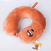 u型枕裸熊記憶棉便攜旅遊午休枕頭護頸椎枕  交換禮物