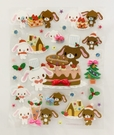 【震撼精品百貨】Sugarbunnies 蜜糖邦尼~三麗鷗蜜糖邦尼耶誕貼紙(S)#33533