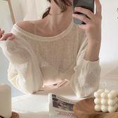 針織衫 韓風仿麻針織衫毛衣上衣