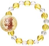 asdfkitty*迪士尼美女與野獸貝兒串珠彈性手鍊/手環-可當髮束-日本正版商品