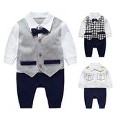 帥氣紳士造型長袖包屁衣 嬰兒服 寶寶服 童裝 連身衣 兔裝