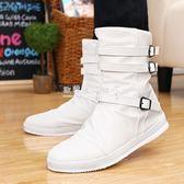 加棉男靴子男士高筒靴韓版潮流中筒馬丁靴高幫男鞋子  歐韓流行館