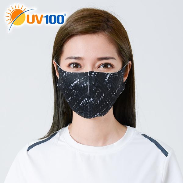 UV100 防曬 抗UV-3D立體繽紛印花口罩